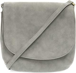Joy Susan Jackie Large Flap Sueded Medium Crossbody Handbag