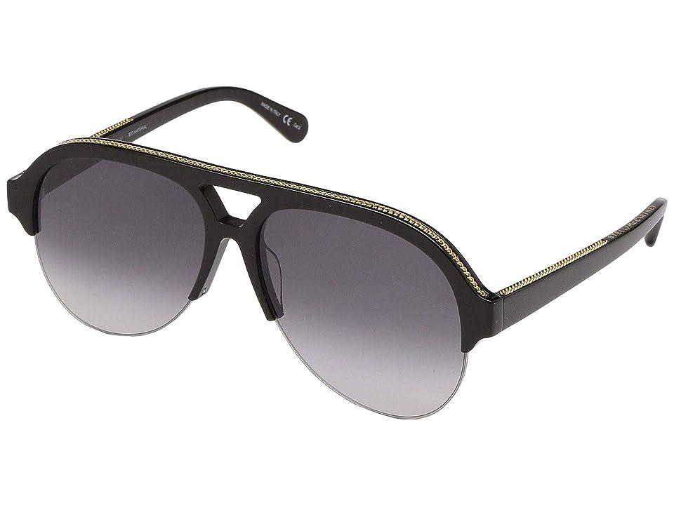 Stella McCartney SC0030S (Black/Black/Green) Fashion Sunglasses