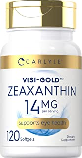 Zeaxanthin 14 mg   120 Softgels   Supports Eye Health   Non-GMO, Gluten Free Supplement   by Carlyle