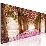 decomonkey Bilder Blumen Landschaft 120x40 cm 1 Teilig