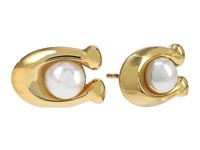 COACH Pearl C Stud Earrings
