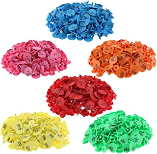 Computer accessories - 6-Color 600PCS Numbered Livestock Ear Tag for Pig Cow Cattle Goat Sheep