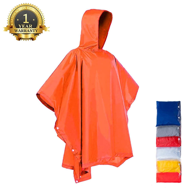 H & C雨ポンチョフードと袖