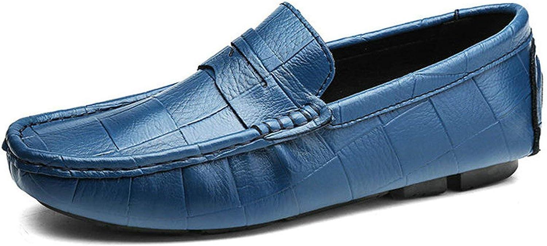 ALWAYS ME Leather Man Loafers Designer Slip On Driving shoes Men Soft Loafers Large Size 3847