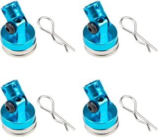 Alloy Stealth Invisible Body Post Mount Shell for Drift RC Touring Car (Pack of 4) (Blue)