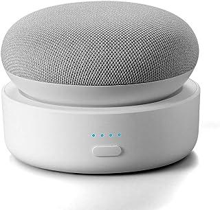 Portable Battery Base for Google Nest Mini 2, GGMM N2 10000mAh Nest Mini 2 Rechargeable Charger Stand, White (Nest Mini or...
