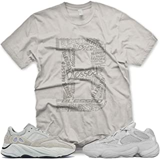 New_B_ BLESSED T Shirt for Adidas Yeezy Boost 500 700 Salt Desert