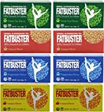 Fatbuster Herbal Slenderizing Tea Variety Pack 8 ( 4 Flavor: Lemon , Green Tea,Original Blend, Peppermint 2 Each) - Weight Loss Diet Tea, 24-Count Tea Bags (Pack of 8)