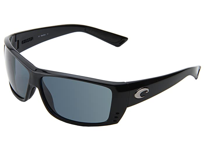 Costa  Cat Cay 580 Plastic (Black/Gray 580 Plastic Lens) Sport Sunglasses