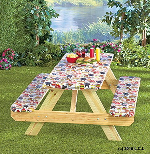 10 best picnic tablecloth fitted set for 2020