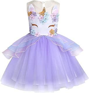 Unicorn Pretend Play Dress Up Wedding Flower Girl Dress Birthday Party Dress Toddler Unicorn Cloth First Holy Communion