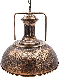 comprar comparacion Huahan Haituo Iluminación de la lámpara de techo colgante de sombra de metal antiguo industrial 1 Colgante de techo de luz...