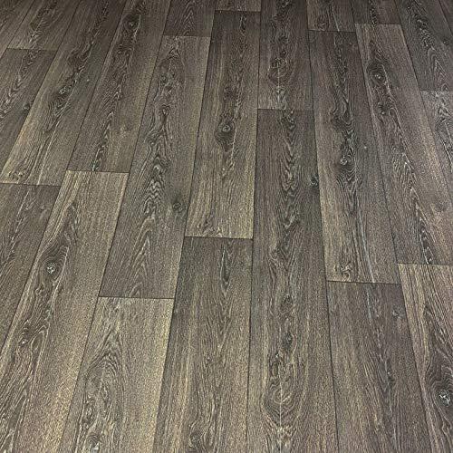 PVC Bodenbelag Holz Maxiplanken Schwarz Grau (Musterstück in DIN A4)