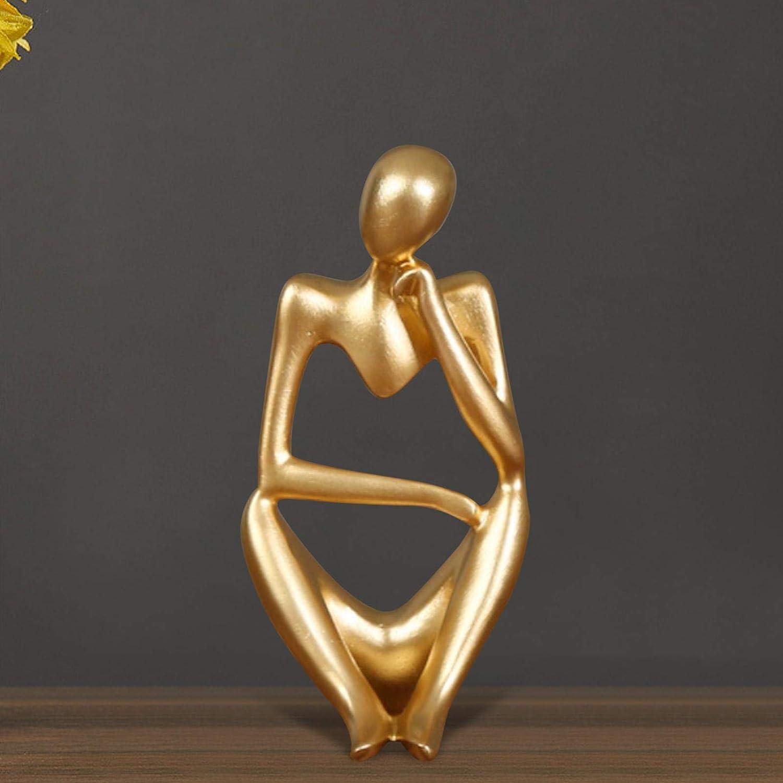R/ésine Caract/ère Figurines Penseur Personnes Abstraite Ornement D/écoration de Bureau Primlisa Statue du Penseur Abstraite Penseur Sculpture Moderne Fine Art Figure