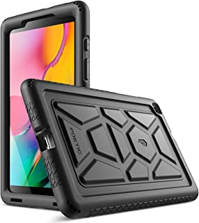 Galaxy Tab A 8.0 Case, Model SM-T290/SM-T295 2019 Release, Poetic Heavy Duty Shockproof Kids Friendly Silicone Case Cover, TurtleSkin Series, for Samsung Galaxy Tab A 8.0 Without S Pen (2019), Black