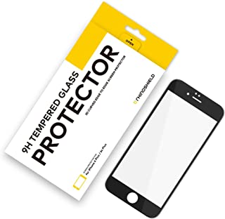RhinoShield Glass Screen Protector for iPhone 6 Plus/iPhone 6s Plus [9H 3D Curved Edge to Edge Tempered Glass] Full Coverage Clear and Scratch Resistant Screen Protection - Black