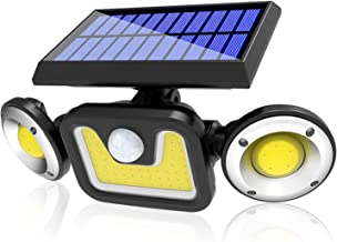 Solar Lights Outdoor, Automatic Motion Sensor Flood Light with 360 ° Angle Adjustment, Waterproof Wall Mount Security Ligh...
