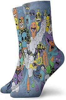 Socks Cute Indie,Fantasy Moon Comet Faces,socks men pack hanes