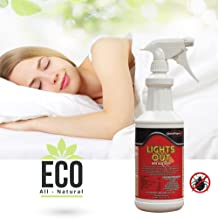 Lights Out Bed Bug Killer Spray All Natural Organic Formula Eco-Friendly, 32 oz.