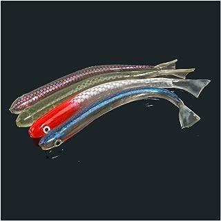 ebPowers Softbait Wiggle Shad Soft Plastic Swimbait Fishing Lure Smallmouth Bass Perch Pack of 4pcs