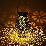 Farolillos Solares Exterior,Hangrui Luces Solares LED Luz Solar Lámpara Colgante IP55 Impermeable Portátil Lampara Solar de Decoración para Fiesta,Jardin,Patio,Senderos,Patio,Navidad