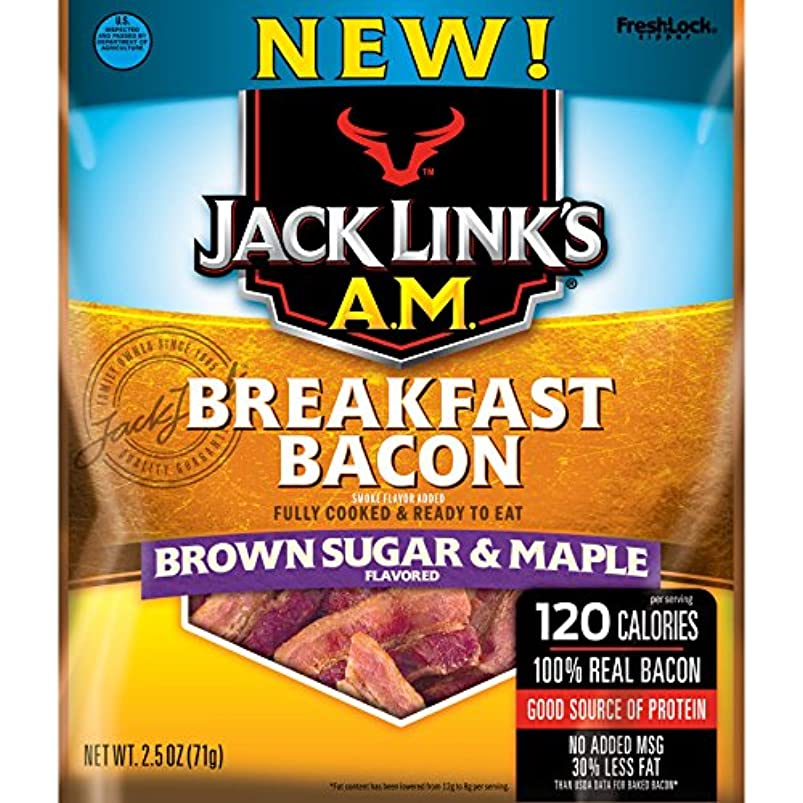 Jack Links A.M. Breakfast Bacon Brown Sugar & Maple Bacon Jerky (2.85oz) cowbvgzh795689