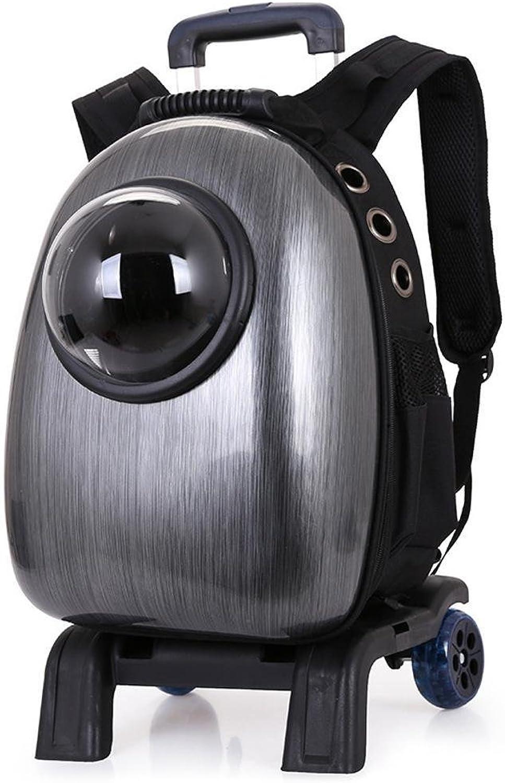 Dixinla Pet Carrier Backpack PVC Transparent breathable portable dualshouldered pet space backpack