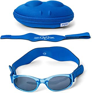 Tuga Baby/Toddler UV 400 Polarized Sunglasses with Two Adjustable Straps and Case (0-5 Years)