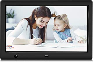GRC Digital Picture Frame, 10.1 Inch 1920x1080 IPS HD Display Digital Photo Frame with Motion Sensor and Remote Control, V...