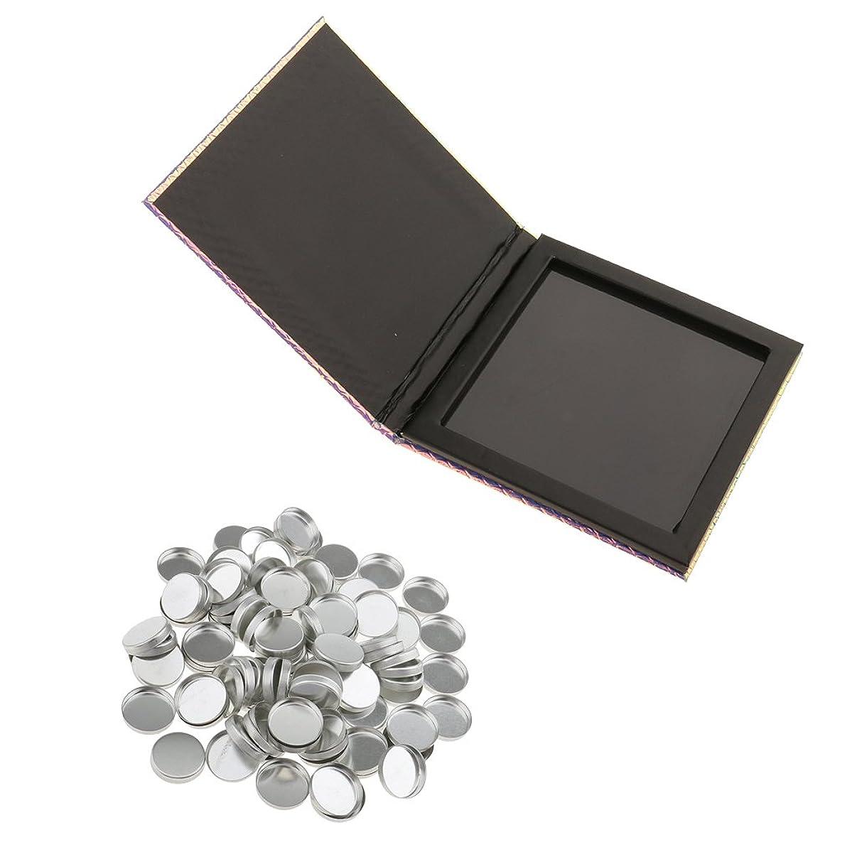 なくなる頑丈違反するDIY 磁気パレットボックス アイシャドー パウダー 化粧品ケース(100個) メイクアップパン 旅行 出張