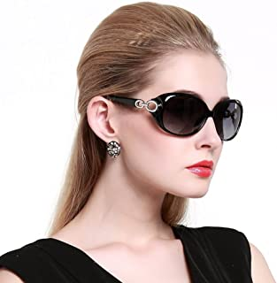 DUCO Shades Classic Oversized Polarized Sunglasses for Women 100% UV Protection 1220