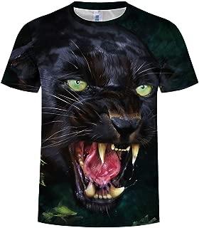 Animal Top 3D T-Shirt Unisex de Manga Corta