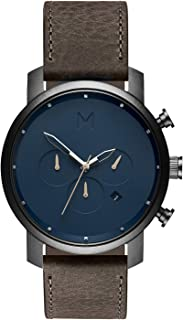 Chrono Watches | 45 MM Men's Analog Watch Chronograph | Matte Blue Cedar