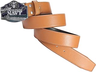 Baoblaze Western Cowboy Style Navy Buckle Leather Belt Jeans Decor