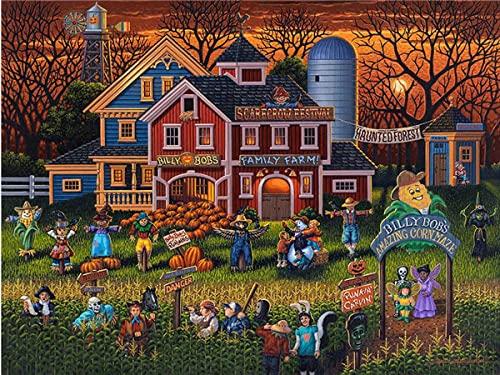Puzzle 4000 Pezzi Adulti, Gioco di Abilità per Tutta la Famiglia, Gioco di Posa Colorato, Puzzle per Adulti da 14 Anni Halloween-4000 Pezzi