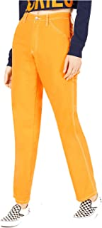 Dickies Girl Juniors' Relaxed Fit High-Rise Twill Carpenter Pants