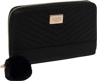 Black Nina Travel Wallet With Gold Hardware