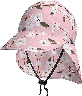 Lsjuee, cappello da sole per bambini, traspirante, con fiori di ciliegio, cappello da sole