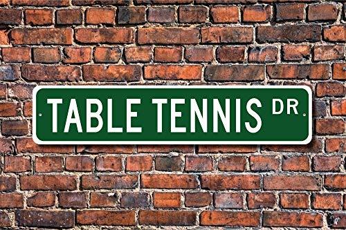 YelenaSign Tavolo Tennis Tavolo Tennis Segno Tennis Tavolo Tennis Tennis Tavolo Tennis Giocatore Tavolo Tennis Regalo PingPong Segno Stradale 4x16 Pollici