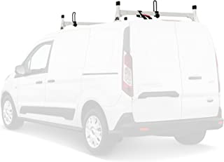 Steel H1 Low Profile 2 Bar Ladder Roof Rack for a Transit Connect 2014-Newer White