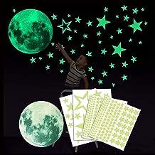 Brillano al Buio Luna con 250 Stelle Wandkings Adesivi Fluorescenti da Parete