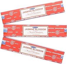Satya Nag Champa Jasmine Blossom Incense Sticks - 3 Packs by Satya