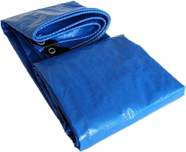 GLJ Tissu Film Papier Tissu Imperméable Bache Double Bleu Pare-Soleil Pluie Bache en Plastique bache (Couleur   Bleu, Taille   5x5m)