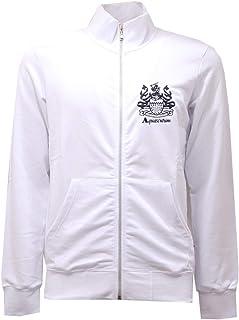 Aquascutum 2738AE Felpa Uomo White Full Zip Cotton Sweatshirt Man