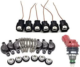 Fuel Injector adapter Kits for 1990-1993 300ZX Turbo Z32 Phase 1/2 VG30DE VG30DETT-FOR A SET OF 6 INJECTORS
