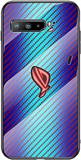 حافظة هاتف أسوس روج 3 ZS661KS من مونكيس، حافظة فاخرة صلبة من الزجاج الصلب بنمط ألياف الكربون ومضادة للصدمات لهاتف اسوس ROG...