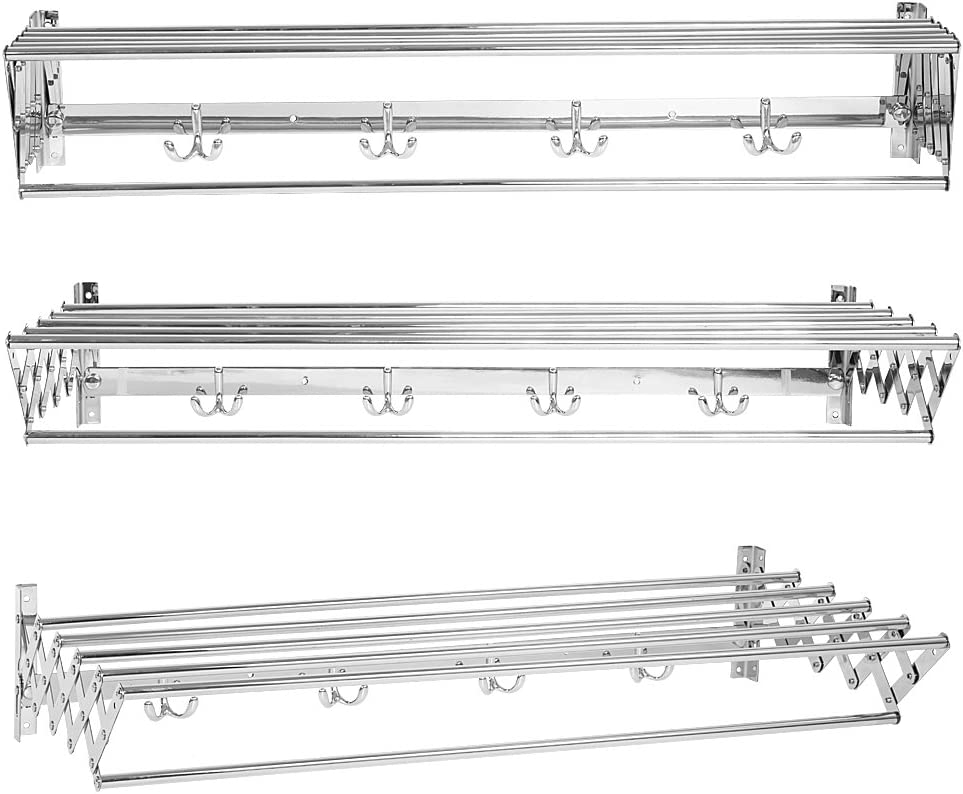 Towel Rack 80cm Max 69% OFF Stainless Steel Direct sale of manufacturer Bathroom Expandable Wall Mounted