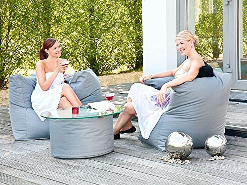 expendio Outdoor Sitzsack Caribbean Armsessel 90x65 cm anthrazit Sitzsessel Gartenmöbel Gartensessel
