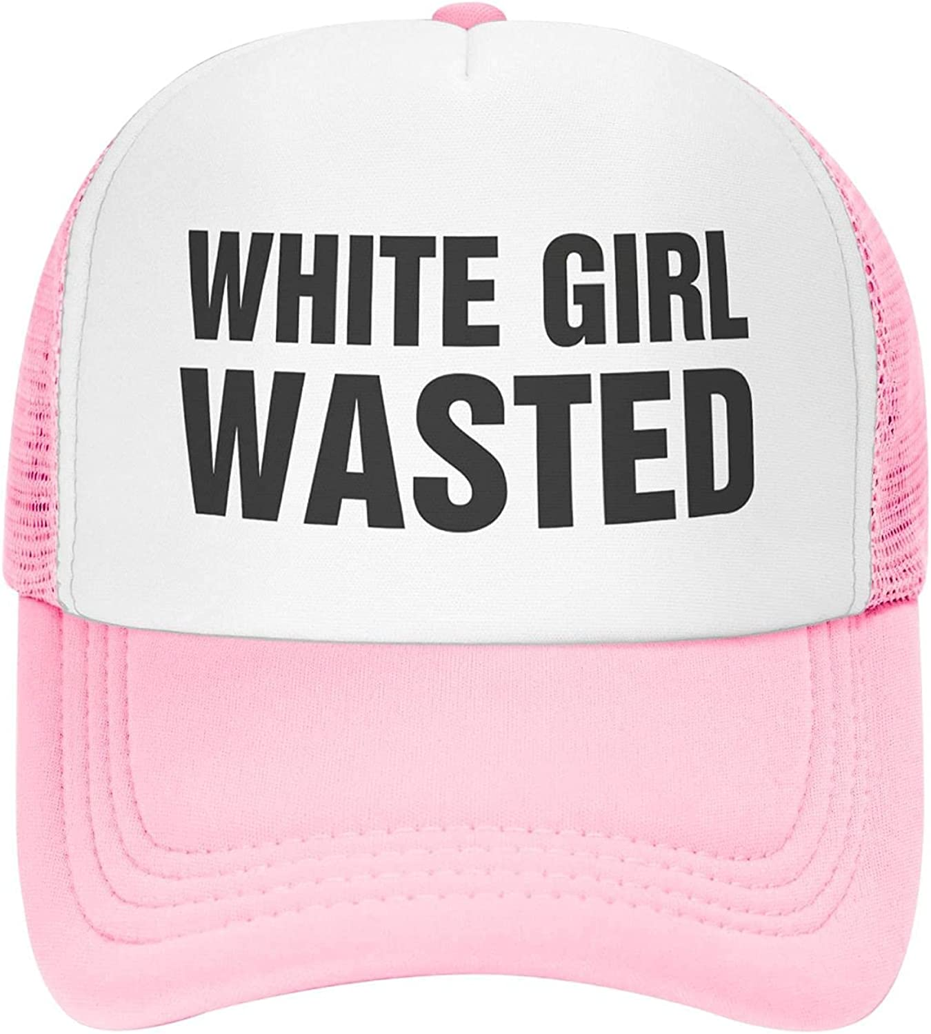 Hoodie My Heart White Girl Wasted Hats for Women Funny Retro Style Trucker Mesh Baseball Caps