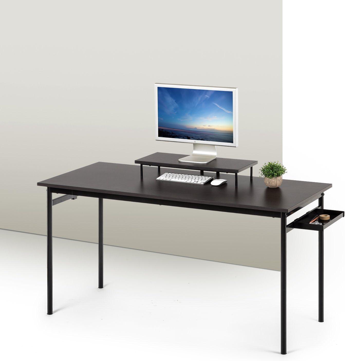 Zinus Tresa Computer Indefinitely Popularity Desk in Espresso Medium Workstation